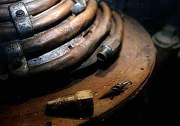 Austrittsdüse des Heimkraftwerks