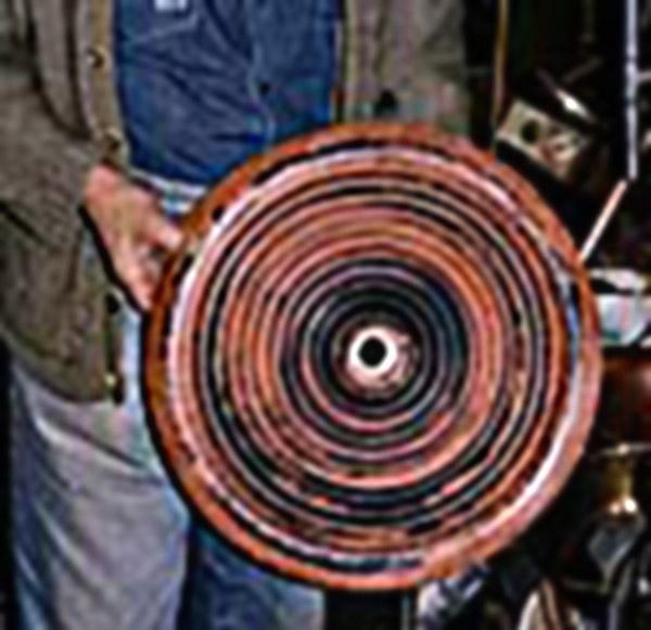 Kupfer-Wellenscheibe